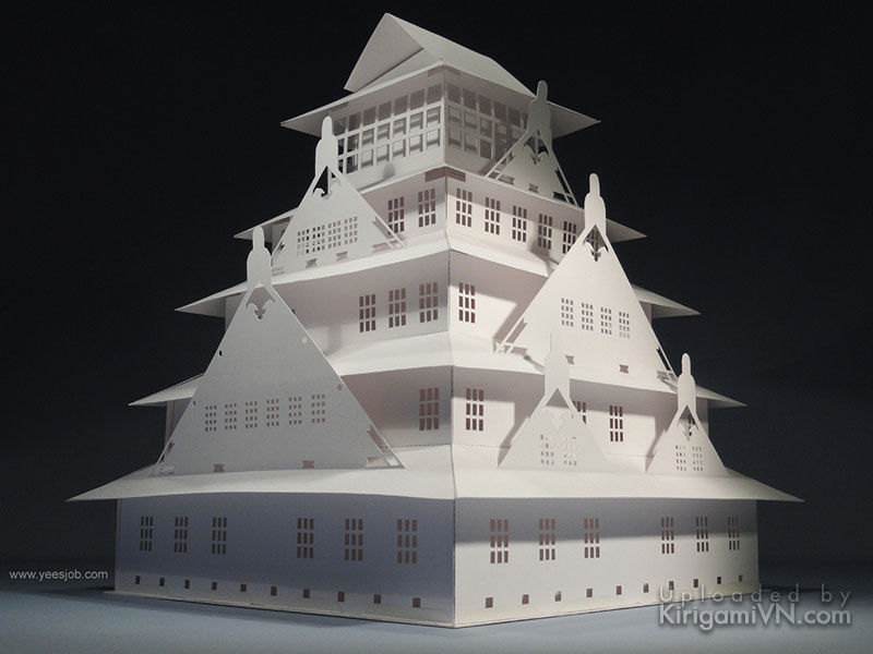 Osaka Castle pattern preview kirigamivn.com 1