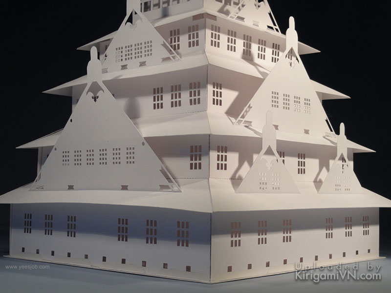 Osaka Castle pattern preview kirigamivn.com 3