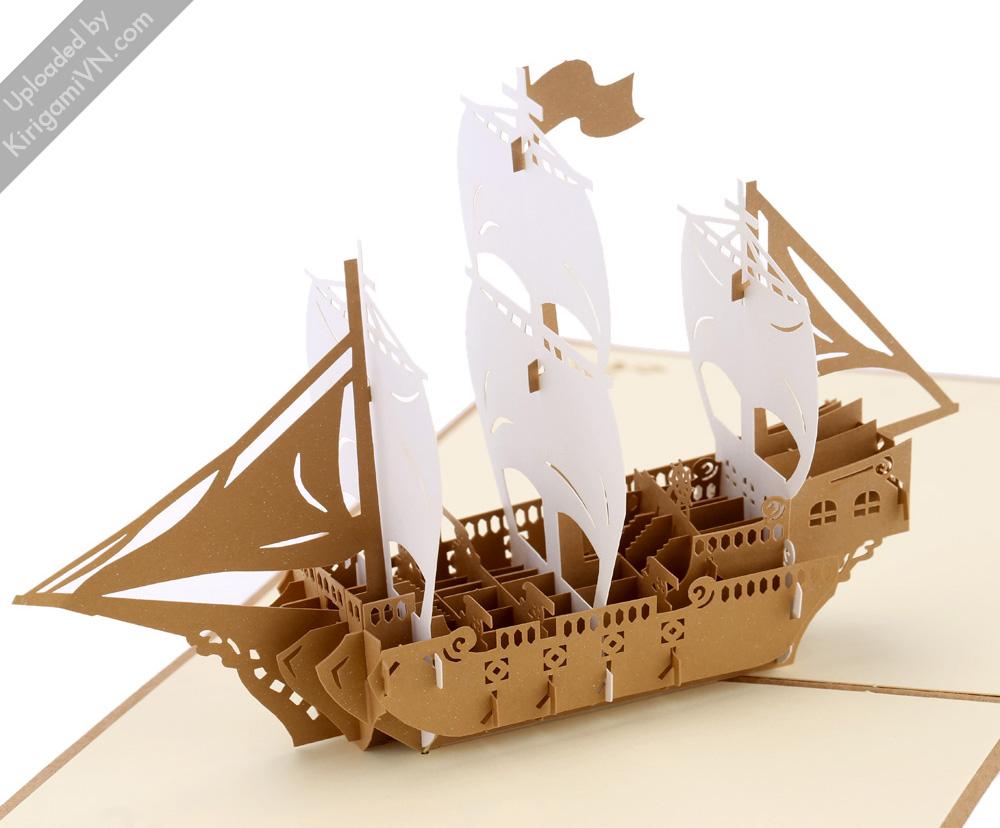 Sailing Boat Pattern KirigamiVN preview 4