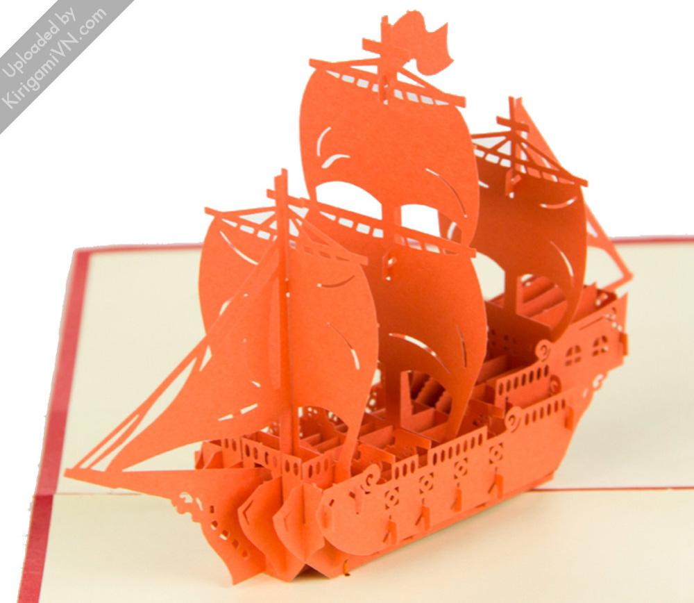 Sailing Boat Pattern KirigamiVN preview