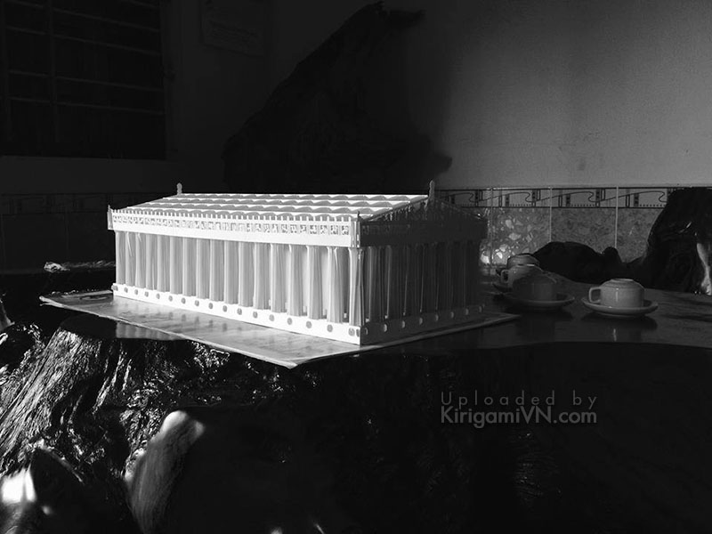 The Athens Parthenon pattern preview Kirigamivn.com 5