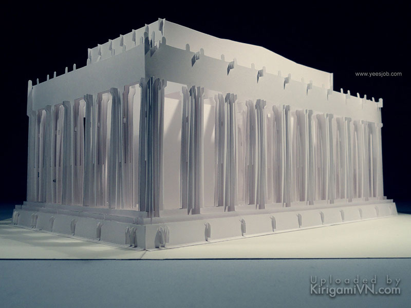 The Lincoln Memorial pattern prewview kirigami 4