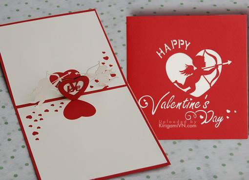 Thiệp Valentine 3D pattern