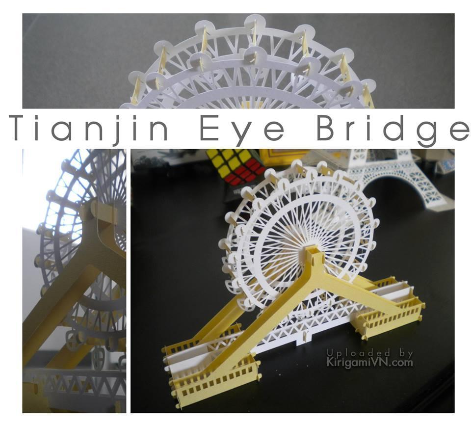 Tianjin Eye Bridge - Con mắt Thiên Tân pattern