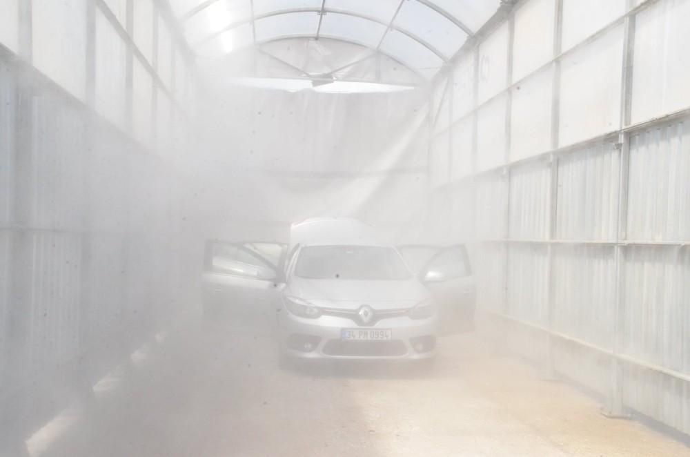 Kırıkkale'de dezenfekte tüneli yeniden açıldı