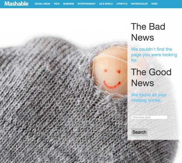 Mashable.com 404 Page