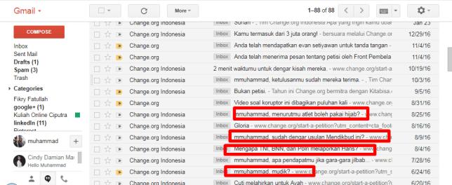 pola ke-6 dari 6 pola subject email change org