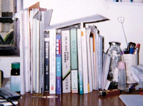 書架上的書