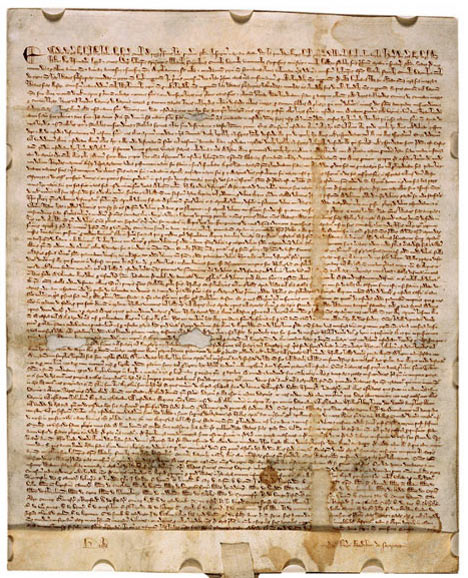 the first document forced onto an English King by a group of his subjects