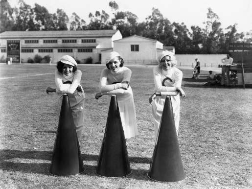 Cheerleaders in vintage era of college football