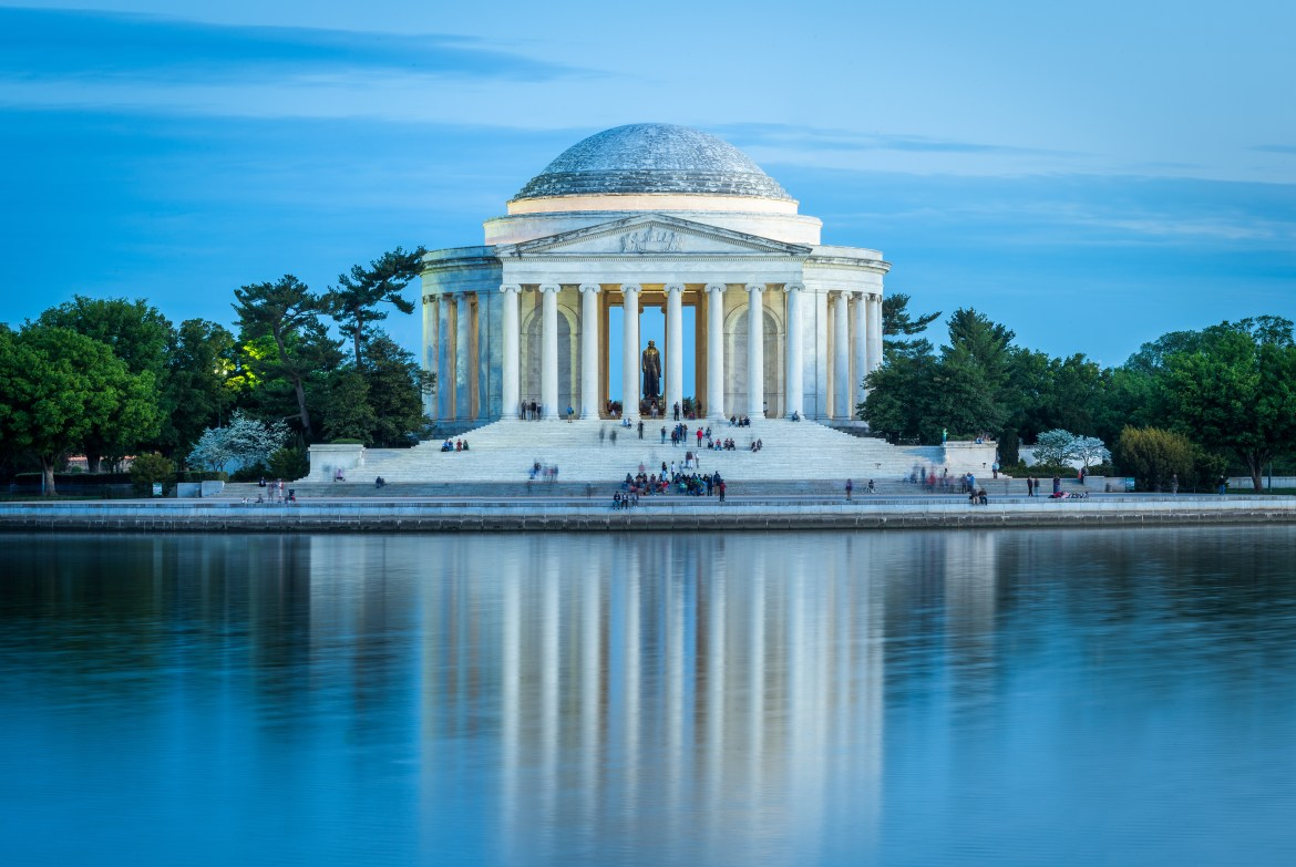 The Memorial Honoring the writer of the Declaration of Independence, Thomas Jefferson