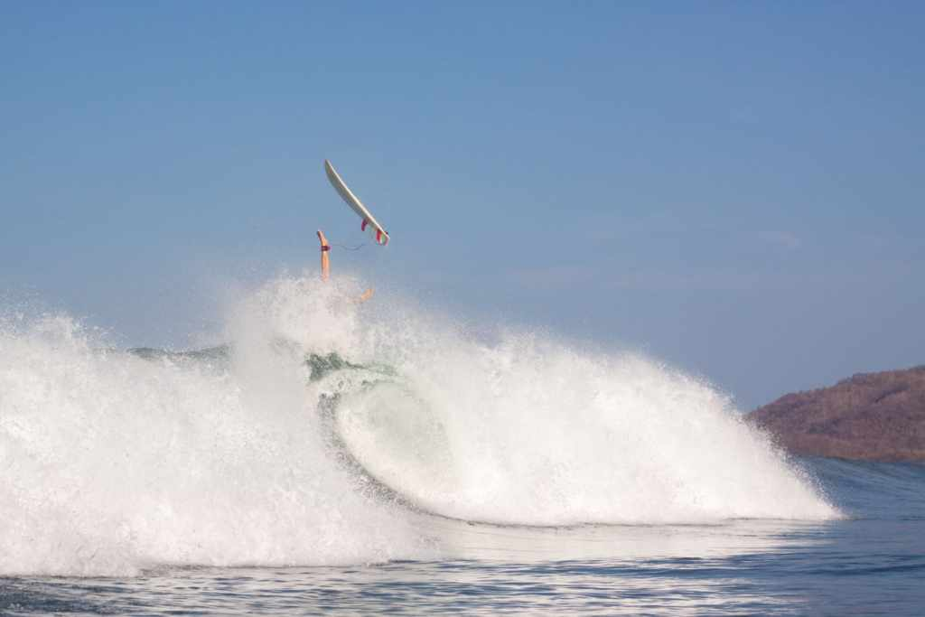 surfer wiping out as a representation of VCs with multiple board seats failing