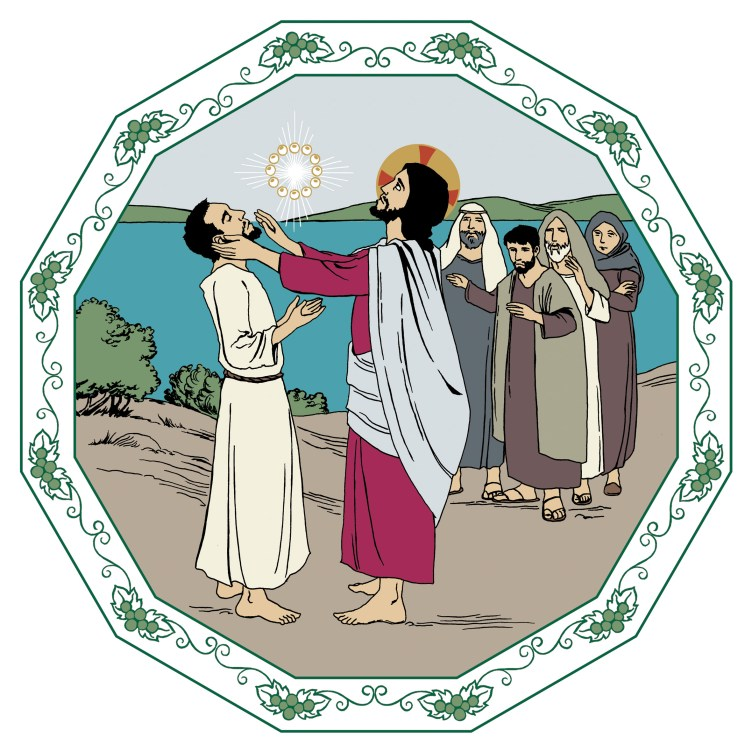 Tuleva sunnuntai on 13. sunnuntai helluntaista. Päivän aihe on Jeesus, parantajamme. Kuvassa Jeesus parantaa sairaan.