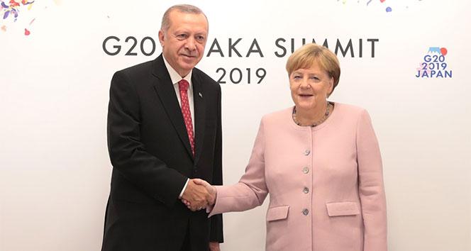 Cumhurbaşkanı Erdoğan, Almanya Başbakanı Merkel ile görüştü