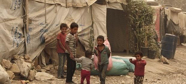 Photo of Syrian refugees, courtesy of UK Government