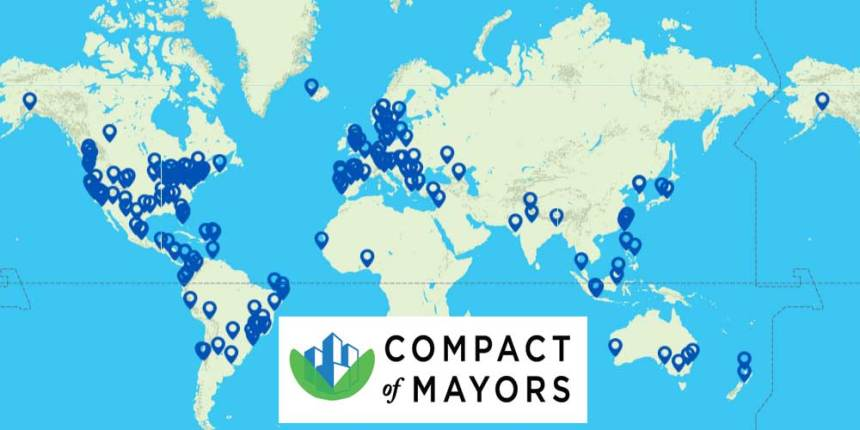Compact of Mayors map of participating cities