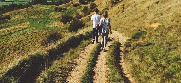 wild drugs - image of couple walking on country path