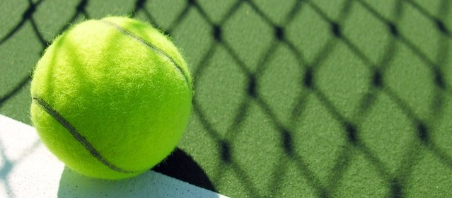 Tennis anyone? A ball on a court