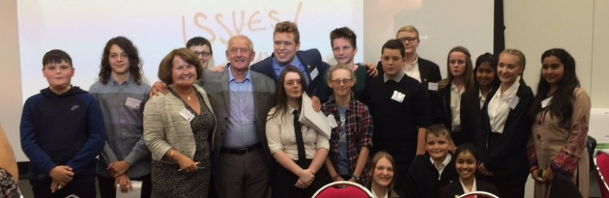 Kirklees Youth Council members and local MPs