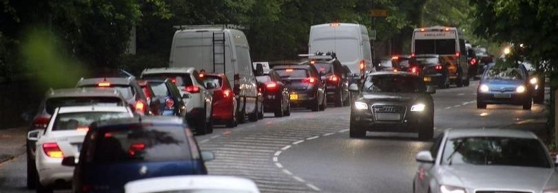 Traffic along the A629 in Huddersfield. Photo courtesy of Examiner
