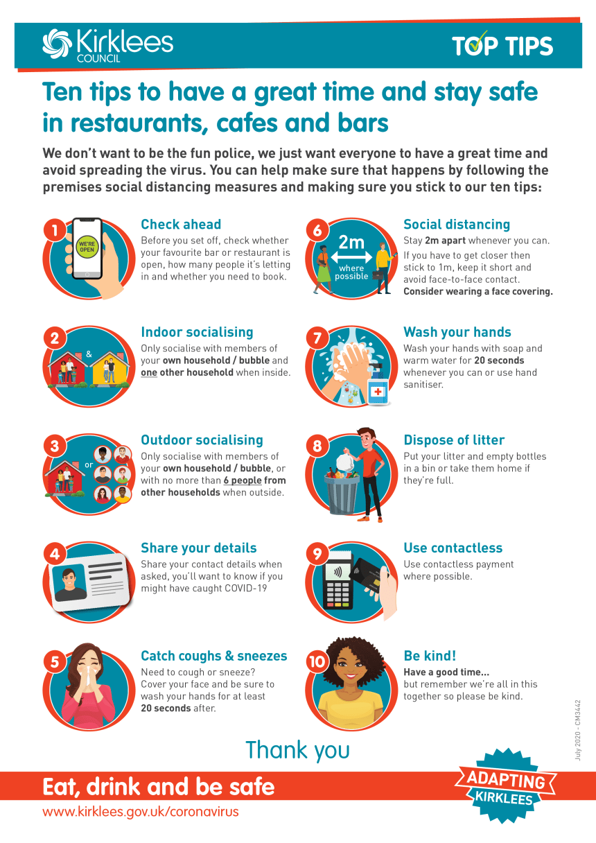 Hospitality Safety Tips Infographic - July 2020