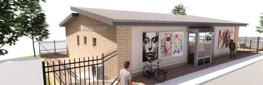 Artists impression of new Birkby and Fartown Library