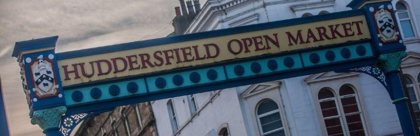 Huddersfield New Market sign