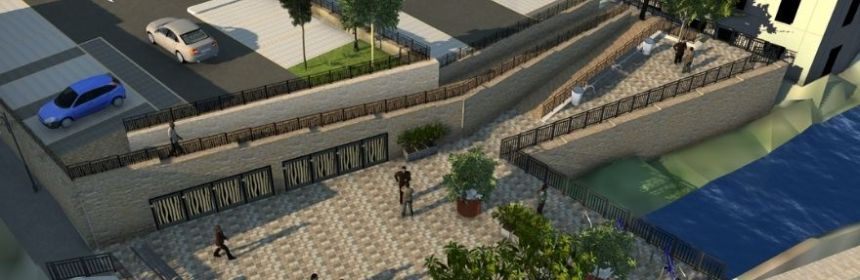 New Holmfirth carpark and footway proposals