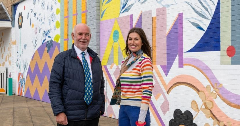 From left to right - Cllr Eric Firth, Cabinet Member for Town Centres Kirklees Council and Emmeline North