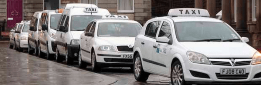 parked taxis