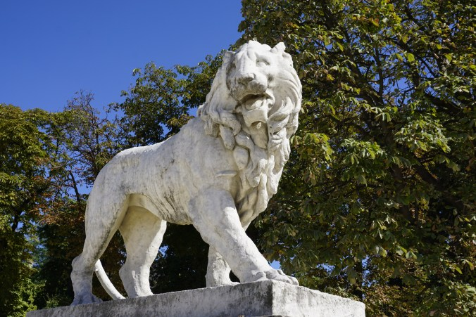 Lion Statue at Luxembourg Palace
