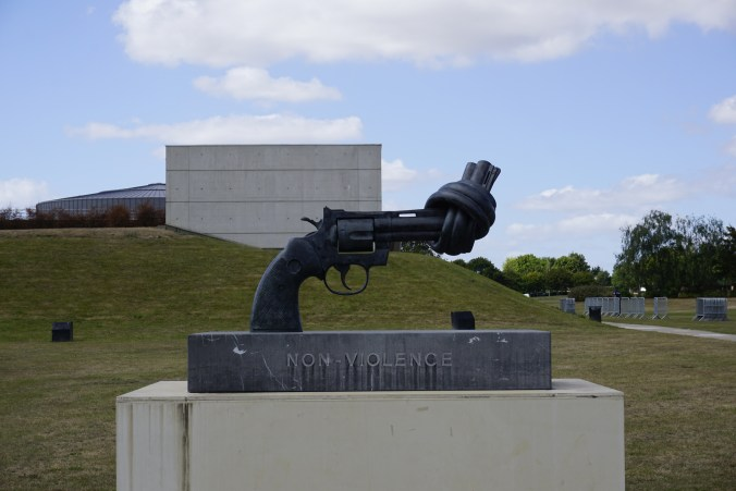 Caen Memorial Non-Violence Sculpture