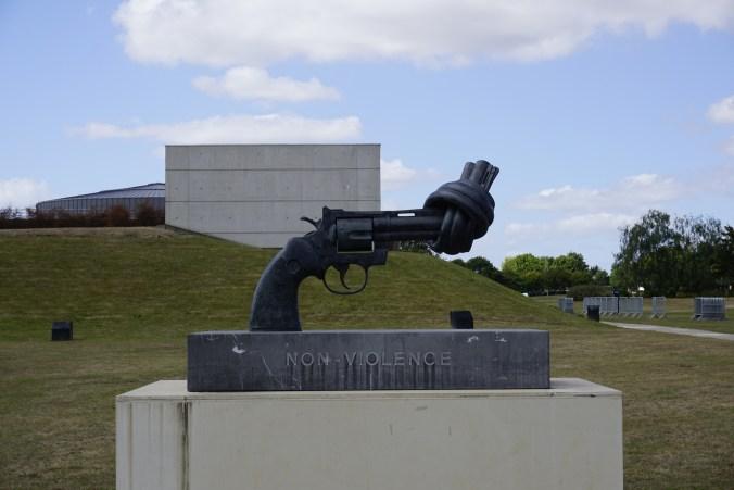 Caen Memorial Non-Violence Sculpture