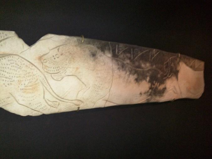Lion Carving in Antler