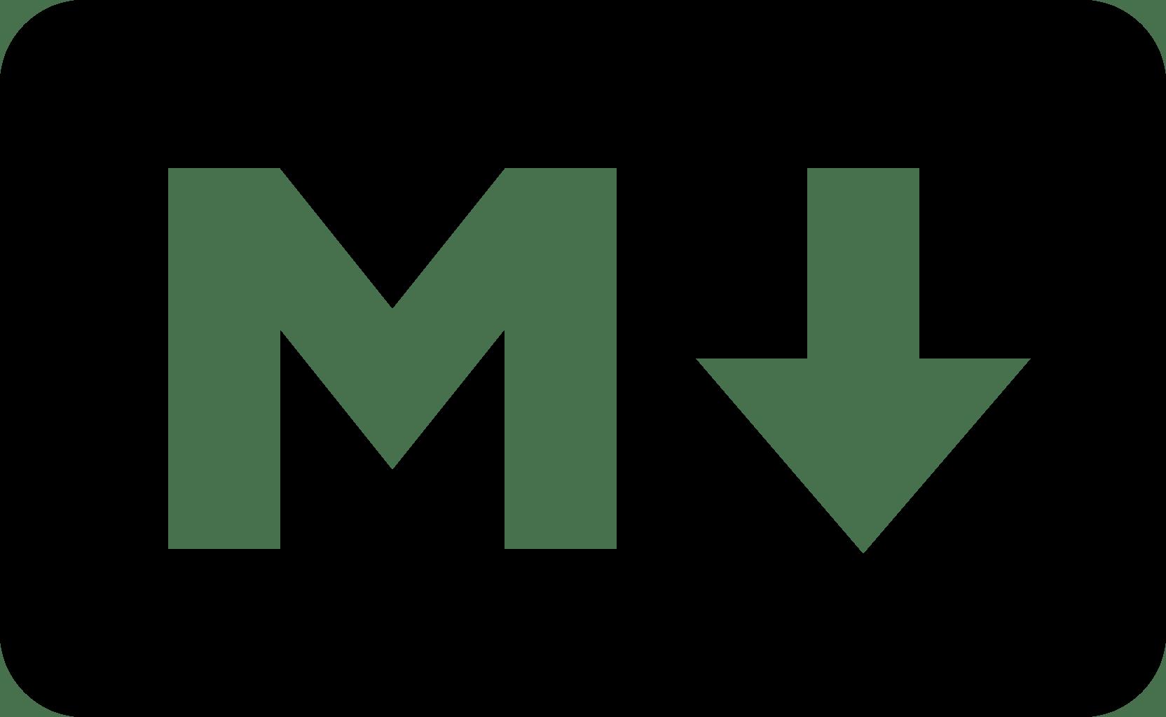 Logo de Markdown