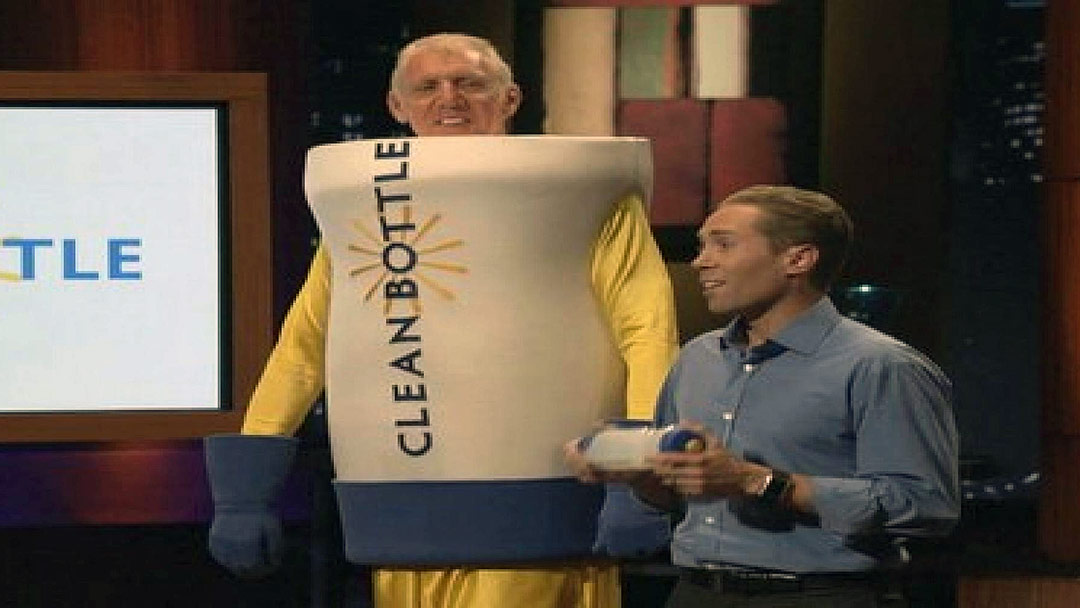 Clean Bottle Pitches Shark Tank with Bill Walton as Mascot