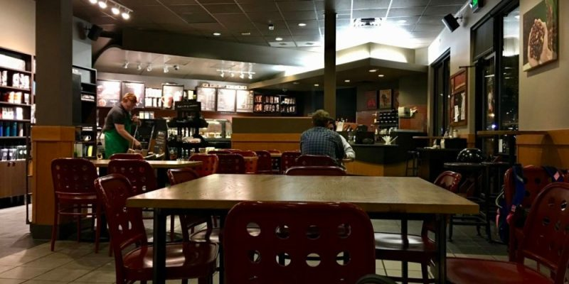 Sitting in a Coffee Shop
