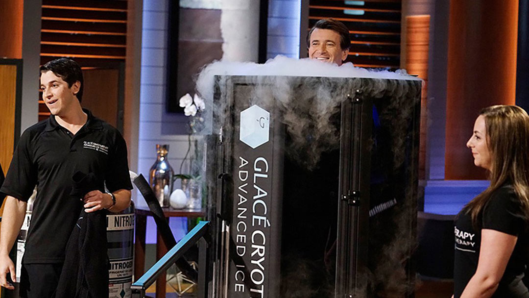 GLACÉ CRYOTHERAPY Shark Tank Pitch Barbara Corcoran and LA Fitness