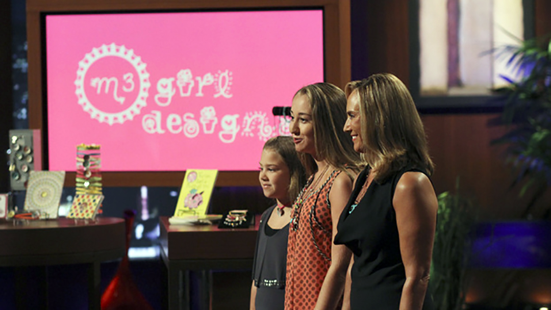 M3 Girl Designs Shark Tank Deal Lori Greiner, Mark Cuban and Robert Herjavec