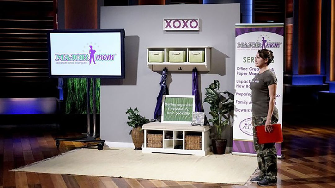 Major Mom® organizes homes and combats clutter on Shark Tank