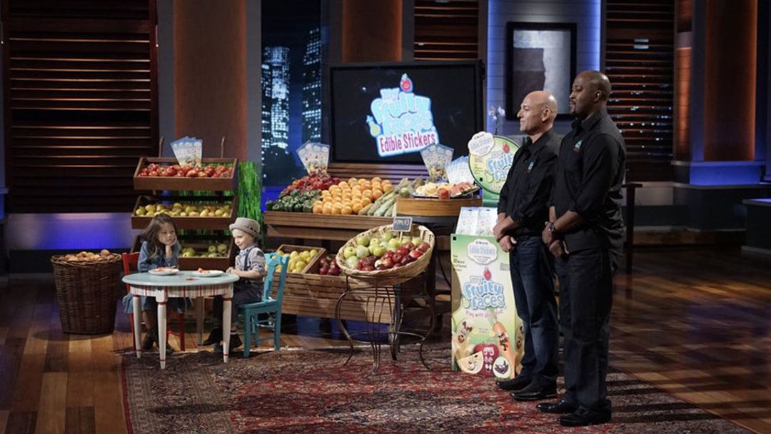My Fruity Faces edible stickers bombs in Shark Tank, selling online