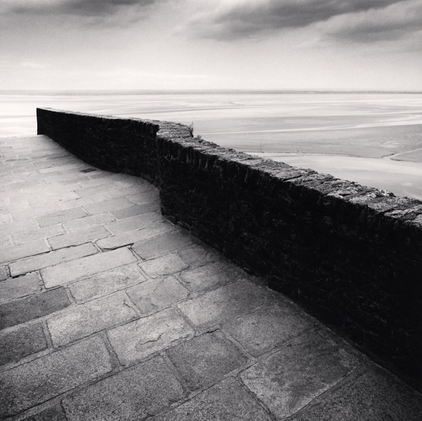 Winding wall mont st michel france 2004