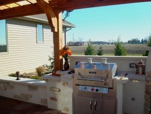 Bryan Ohio, outdoor fireplace, bbq, sit wall, bar, Pergola, Pati 010