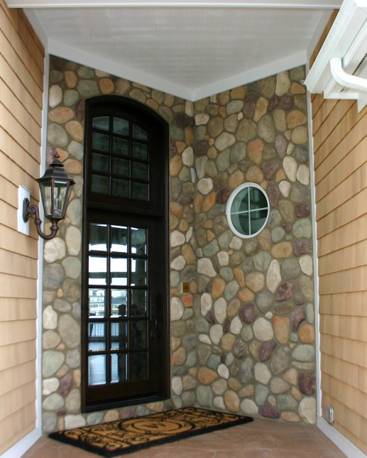 Exterior House Lake Quarry Front Door View