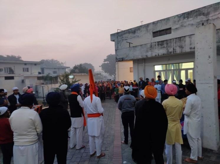 The procession on Guru Nanak's birthday