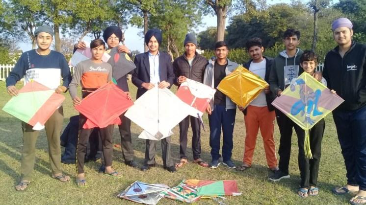 Also the elder students enjoyed flying their kites