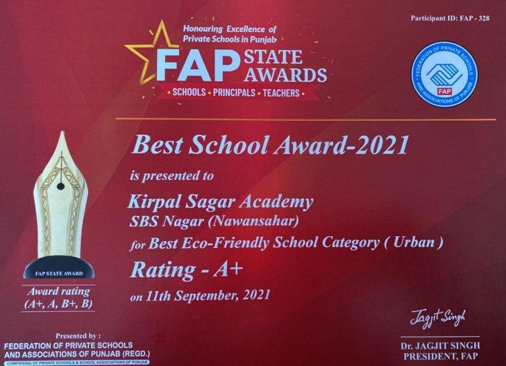 Best Eco-Friendly School Award