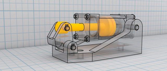 Beispielkonstruktion in Autodesk Inventor Professional