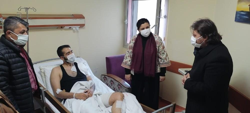 KEA Hastanesinde ameliyat olan gazinin sağlık durumu iyiye gidiyor