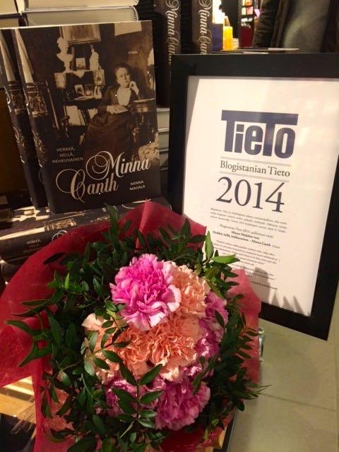 Minna Maijalan Minna Canth -kirja valittiin Blogistanian äänestyksessä vuoden 2014 parhaaksi tietokirjaksi.